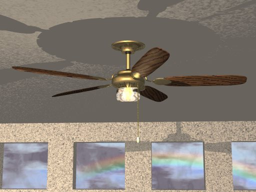 Spinning Ceiling Fan : Pov ray newsgroups povray binaries images ceiling fan