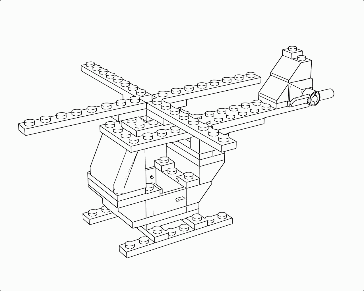 Free coloring pages of lego helicopter for Police helicopter coloring page