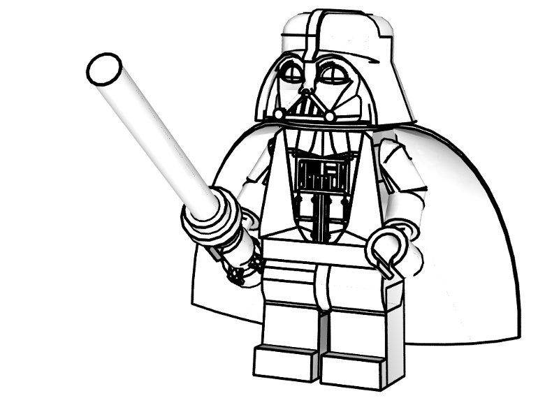 lego figure coloring pages - photo#36