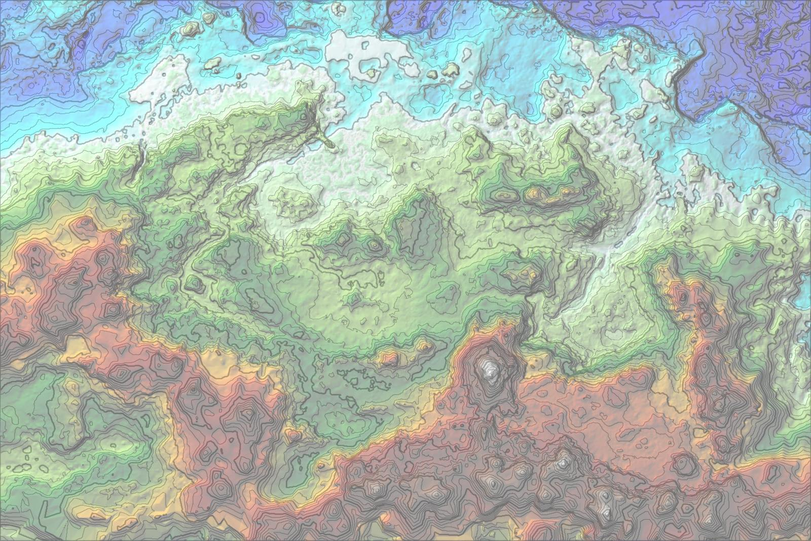 Height map --> topographical map? : worldbuilding
